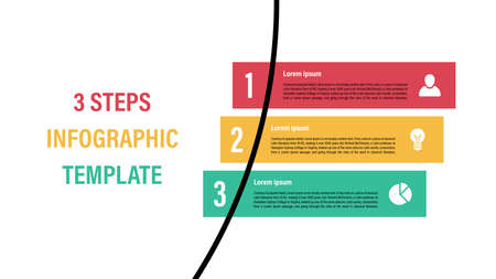 Infographic design template with business concept vector illustration with 3 steps or options or processes represent work flow or diagram