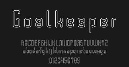 Set of alphabets font letters and numbers modern vector illustration