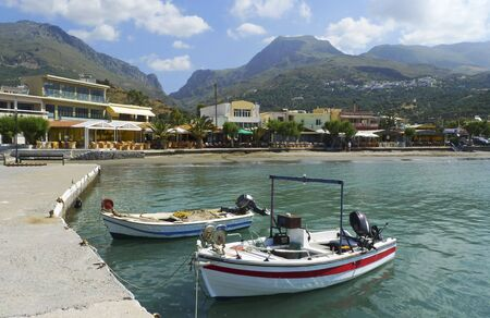 Plakias port in southern Crete photo