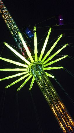 Detail from a fairground at night photo