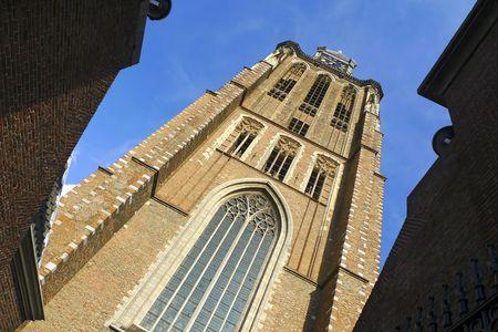 dordrecht: Clock tower of Dordrecht cathedral, Holland