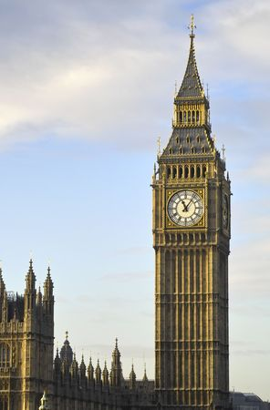 haze: Big Ben in a golden haze, London