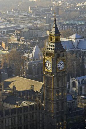 Big Ben desde arriba, Londres, Foto de archivo - 5360689