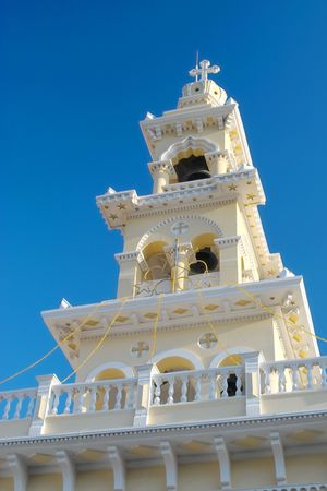 Greek church tower on Crete in Palaiochora photo