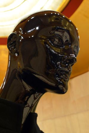 The head of a black female mannequin photo