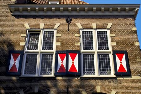 Facade of a Dutch house with shutters Stock Photo - 6123767