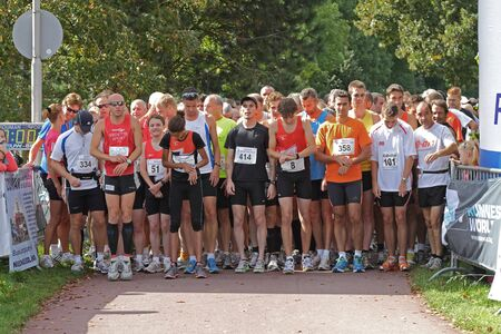 RIDDERKERK, THE NETHERLANDS - SEPTEMBER 18 2010: The start of  21st Rabo Oosterparkloop from 15 km, 10km and 6.3 km circuit for all ages.