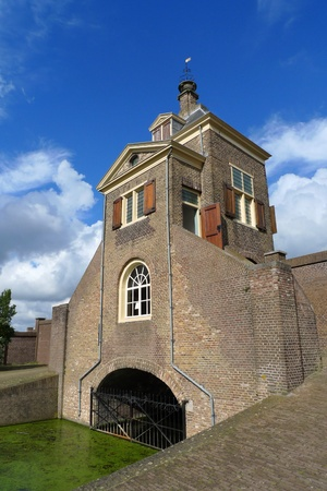 gatehouse: Historic gatehouse of the Kruithuis used for gunpowder storage in 17th century Delft, Holland Stock Photo