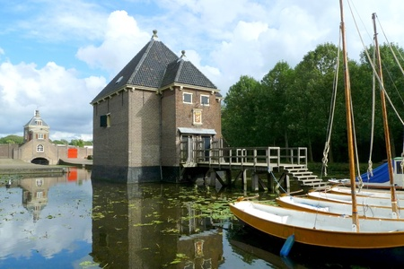 Historical 'Kruithuis' in Delft used for gunpowder storage in the 17th century Holland