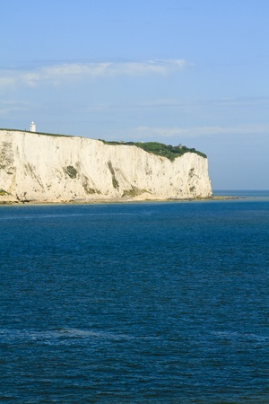 View of white cliffs of Dover in Kent from the sea