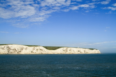 The white cliffs of Dover in Kent from the sea