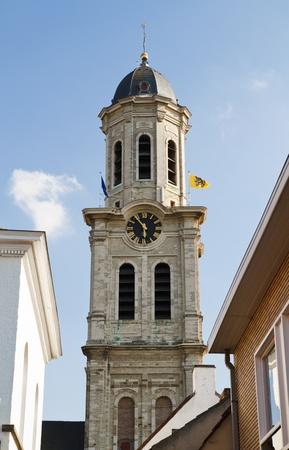 Imposing Saint Laurentius church in Lokeren in Belgium Stock Photo