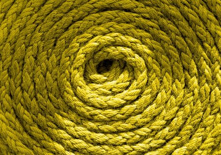 Heavy duty blue coiled ships rope photo