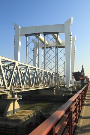 dordrecht: Railway bridge crossing in Dordrecht The Netherlands