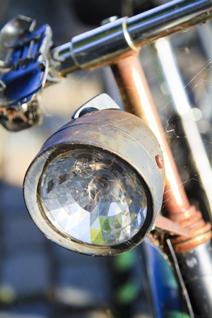 An old rusting vintage bicycle covered in cobwebs Stock Photo - 11728619