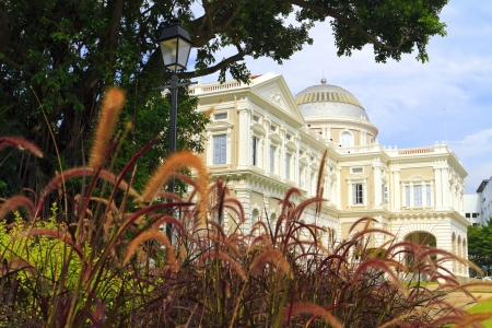 singapore building: National Museum of Singapore with surrounding garden