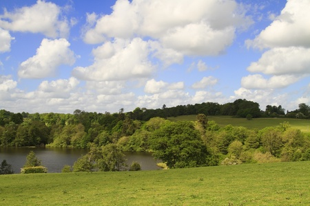 kent: stunning view of lake and countryside in kent