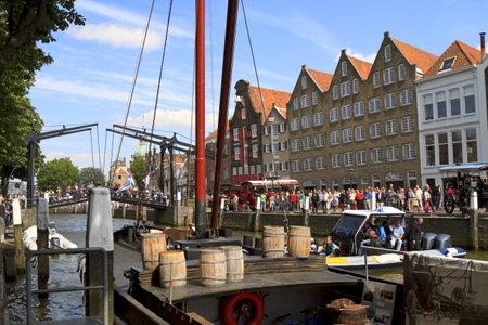 dordrecht: DORDRECHT, NETHERLANDS - JUNE 2 2012: Dordrecht in Steam, the largest steam power event in Europe. Steam festivities on Wolwevershaven harbor on Saturday 2 June 2012 in Dordrecht.