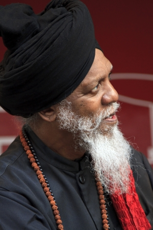 DORDRECHT, NETHERLANDS - JULY 15 2012: Dr. Lonnie Smith on stage at the Big Rivers Festival on Sunday 15 July 2012 in Dordrecht. This living legend is one of the world