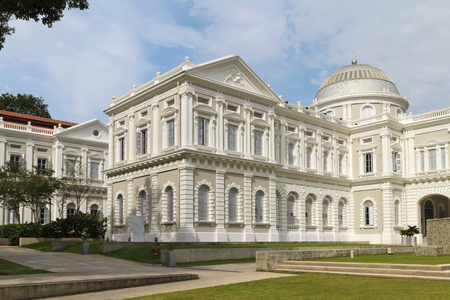 National Museum of Singapore building and grounds on a sunny day Editorial