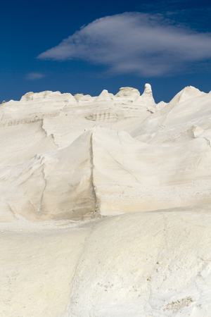 Dramatic volcanic rocks of Sarakiniko on Milos island in the Cyclades