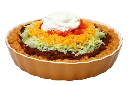 seasoned: Seasoned ground beef on a bed of potatoes topped with lettuce, tomato, cheese and sour cream.
