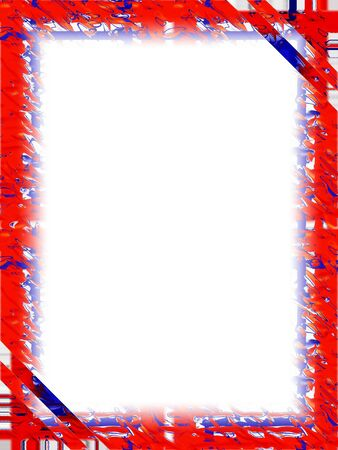 fourth of july: Red, White and Blue Frame