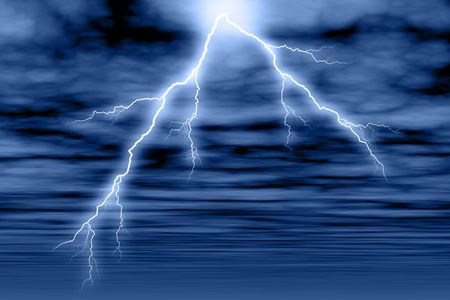 streak lightning: Created in PS.