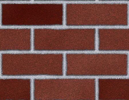 Bak stenen muur gemaakt in photoshop.  Stockfoto