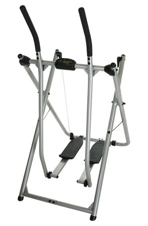 Home exercise equipment over white with clipping path.