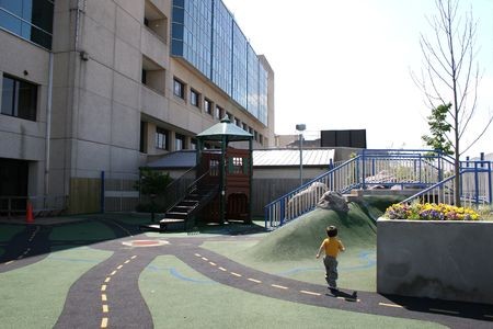 One of the outdoor patient play areas at the Arkansas Childrens Hospital in Little Rock.
