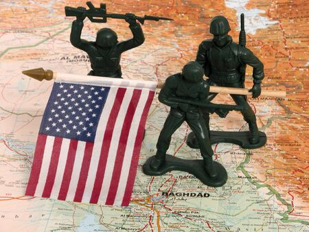 Toy Soldiers on Map photo