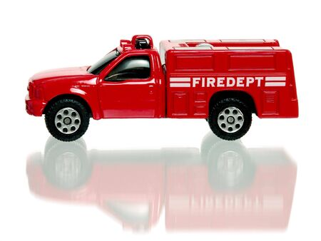 antique fire truck: Toy Firetruck Stock Photo