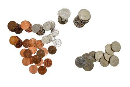 nickle: Money Stock Photo
