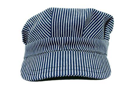 Blauer und weißer gestreifter Leiterhut. Benutzt. Standard-Bild - 3745767