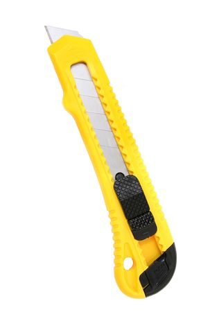 Yellow and black utility knife with break away blade. Stok Fotoğraf - 3745671