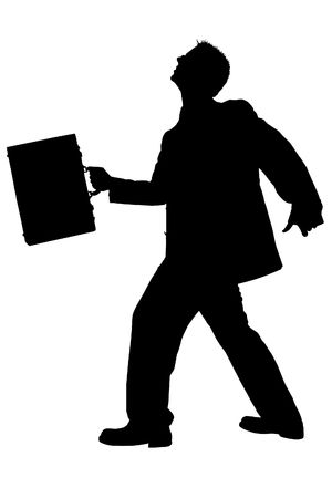 Business Man Walking With Briefcase.  photo