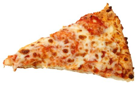 High Resolution cheese pizza slice with deep DOF and great detail.