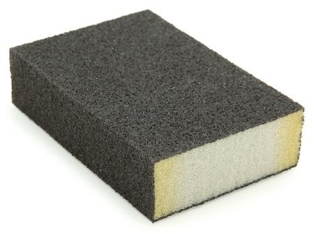 sanding block: Isolated sanding block sponge over white background.
