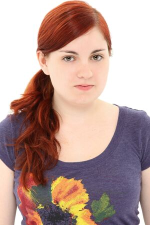 Attractive 19 year old young woman with no make-up.  Natural beauty. Stock Photo - 9785099