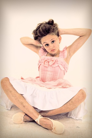 esquizofrenia: Tween Chica con desorden de la esquizofrenia Foto de archivo