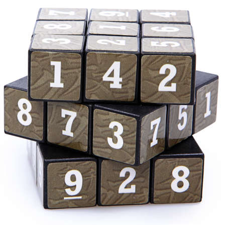 unsolved: Number Puzzle Cube Unsolved
