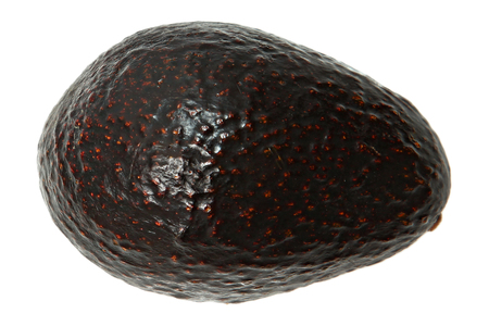 Whole Avocado Above View Over White