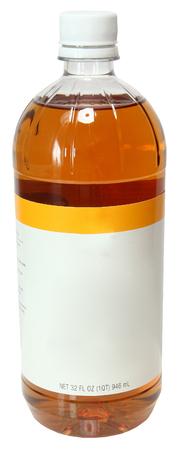Blank Label Bottle Apple Cider Vinegar Over White Standard-Bild
