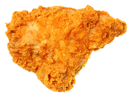 Crispy Fried Chicken Breast Isolated Over White  Standard-Bild