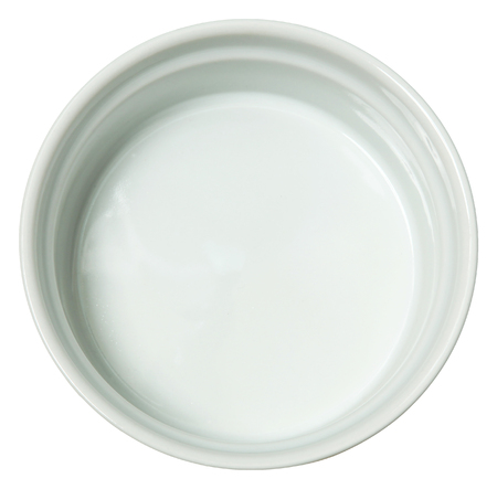White Ceramic Baking Dish over White.