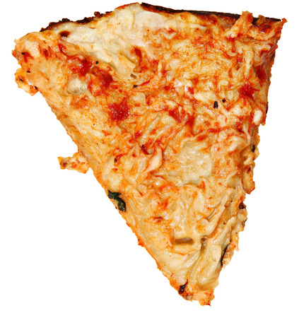 overs: Pizza Crust with Toppings scraped off... gluten allergies or low carb diets. Stock Photo