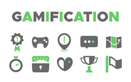 Best gamification fun and creative icons