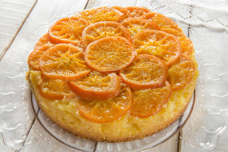 upside: homemade mandarin upside down cake