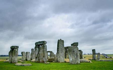 english famous: Stonehenge standing stones Stock Photo